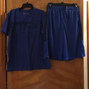 Boys Under Armour matching shorts and tee set
